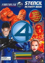 Fantastic 4 Stencil Activity Book: With Stickers